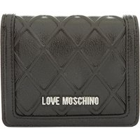 Love Moschino Reverse quilted small flapover purse, Black