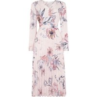 Linea Drew floral printed pleated dress, Pink