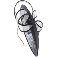 Vixen Millinery Medium twirl saucer, Black/White
