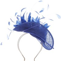 Vixen Millinery Feathered Folded Head Peice, Blue