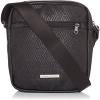 Armani Exchange Embossed PU Leather Crossbody Bag, Black