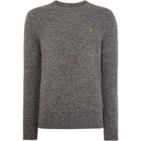Men's Farah Bagod Lambswool Textured Jumper, Charcoal