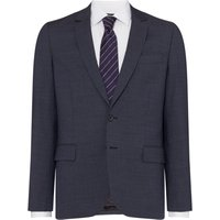 Mens PS By Paul Smith Textured Notch Collar Two-Piece Suit Jacket, Grey