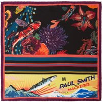 PS By Paul Smith Hawaiian Pocket Square, Purple - Hawaiian Gifts