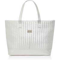 Seafolly Carried away basket weave tote, Silver