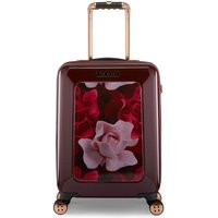 Ted Baker Burgundy Porcelain Rose Cabin Suitcase, Red