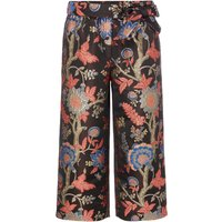 Biba Jacquard oriental print cropped trousers, Multi-Coloured - Oriental Gifts