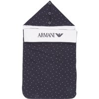 Armani Junior Baby Boy All Over Eagle Printed Blanket, Blue