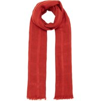 Label Lab Woven check textured scarf, Rust