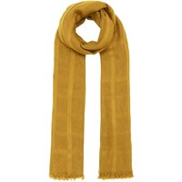 Label Lab Woven check textured scarf, Mustard