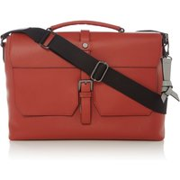 Ted Baker Sandune Colour Leather Messenger, Dark Orange