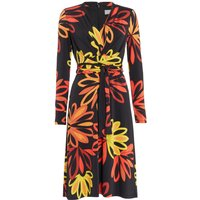 ISSA Kate tie printed wrap dress, Flame