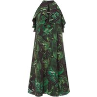 Biba Jungle printed ruffle dress, Multi-Coloured