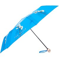 Ted Baker Harmony floral compact umbrella, Bright Blue