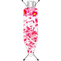 Brabantia Ironing Board, Grey and Pink Santini Cover, Pink