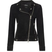 Replay Suede Biker Jacket, Dark Grey