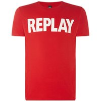 Men's Replay Solid Cotton Jersey T-Shirt, Red