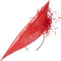 ISSA Elizabeth feather burst hat, Red
