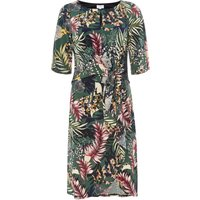 Linea Emily printed tie front dress, Multi-Coloured