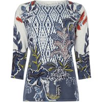 Oui Floral and tribal print jumper, Multi-Coloured