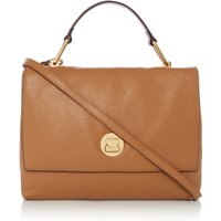 Coccinelle Liya medium flap over tote, Tan