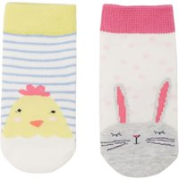 Joules Girls Bunny & Chick Socks, Pink