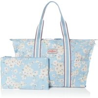 Cath Kidston Wellesley blossom foldaway overnight bag, Light Blue