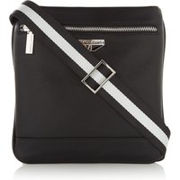 Versace Logo Badge Cross Body Bag, Black