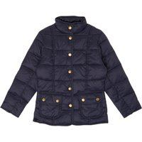 Barbour Girls Padded Popper Front Jacket, Blue