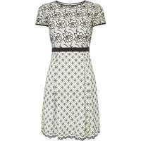 Adrianna Papell Lace shift dress, Black & White