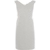 Adrianna Papell Petite cap sleeve dress, White