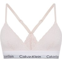 Calvin Klein Modern cotton lace unlined triangle bra, Light Pink