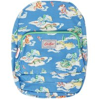 Cath Kidston Hippo And Friends Print Medium Backpack, Blue - Hippo Gifts
