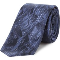 Hugo Textured Jacquard Tie, Blue