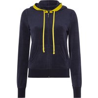 Juicy Black Label Microterry Robertson Jacket With Contrast Hood, Blue