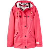 Joules Waterproof Hooded Jacket With Toggle, Washed Red