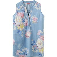 Joules Chambray Tunic Pocket Dress, Blue