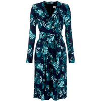 ISSA Kate butterfly print tie wrap dress, Multi-Coloured