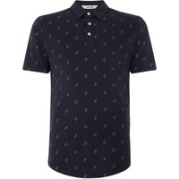 Men's Only & Sons Mathias All Over Printed Polo Shirt, Blue