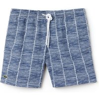 Men's Lacoste Flowing Print Taffeta Swimming Trunks, Multi-Coloured - Swimming Gifts