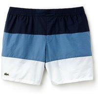 Men's Lacoste Colorblock Taffeta Swimming Trunks, Blue Blue - Swimming Gifts