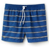 Men's Lacoste Striped Canvas Swimming Trunks, Multi-Coloured