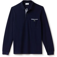 Men's Lacoste Lacoste Contrast Pocket Polo Shirt, White & Blue - Polo Gifts