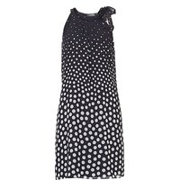 Vera Mont Polka dot dress with neck tie, Multi-Coloured