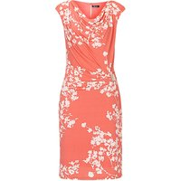Vera Mont Cowl neck floral print dress, Red