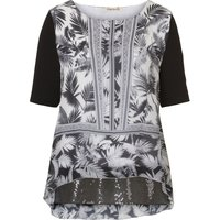 Betty Barclay Print and sequin tunic top, White