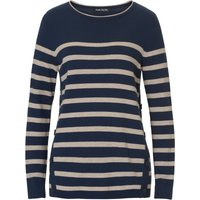 Betty Barclay Striped jumper with button trim, Multi-Coloured