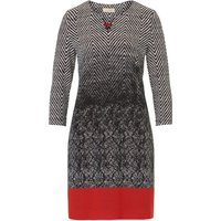 Vera Mont Chevron patterned dress, Multi-Coloured