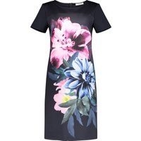 Betty Barclay Floral Print Jersey Dress, Blue