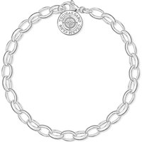 Thomas Sabo Charm club diamond charm bracelet, White